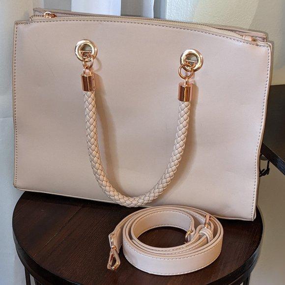 Charming Charlie Rose Gold Handbag